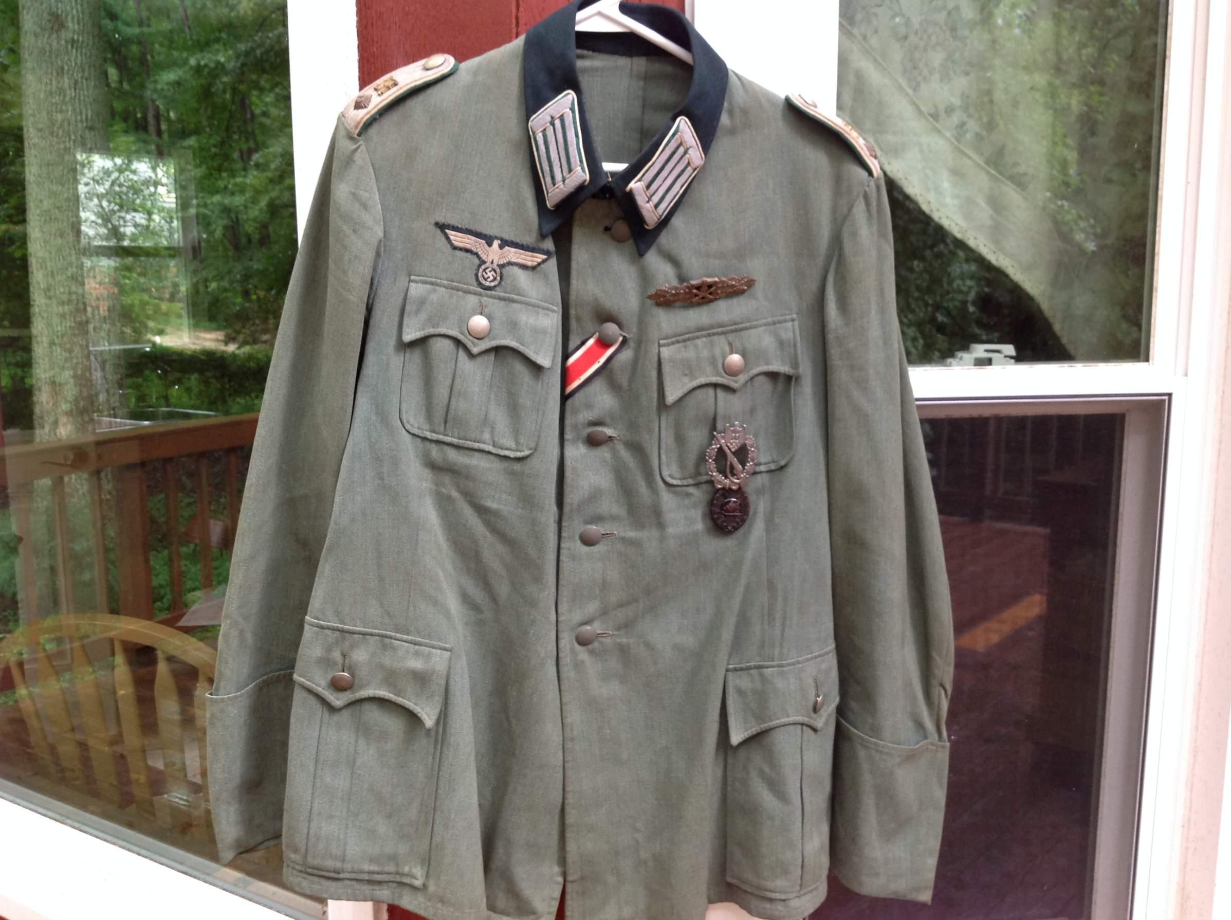 Heer Quot Jager Quot Leutnant Infanterie Tunic