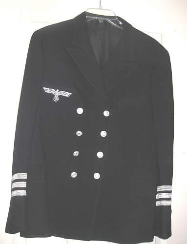 Kriegsmarine officer jacket