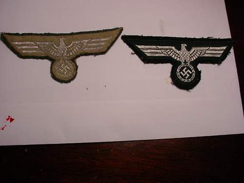2 army breast eagles,officers?