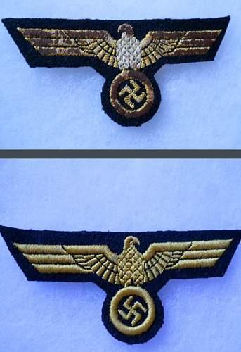 Kriegmarine eagle,made yesterday?