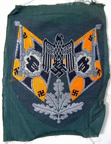 German Army Flag Bearer Insignia,,,need opinion