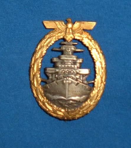 Kriegsmarine High Seas Badge: Authentic Piece?
