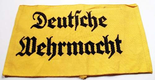 Help with this Deutsche Wehrmacht armband