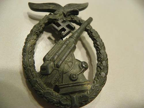 Luftwaffe FLAK badge: what do you think?