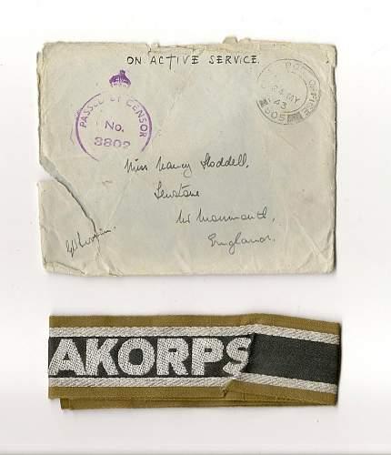 Afrika Korps Cuff title - aye or nay