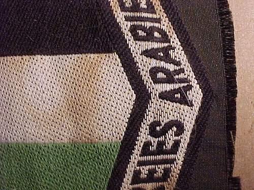 Freies Arabien sleeve patch -- fake??