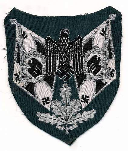 Army Infantry Flag bearer's arm patch