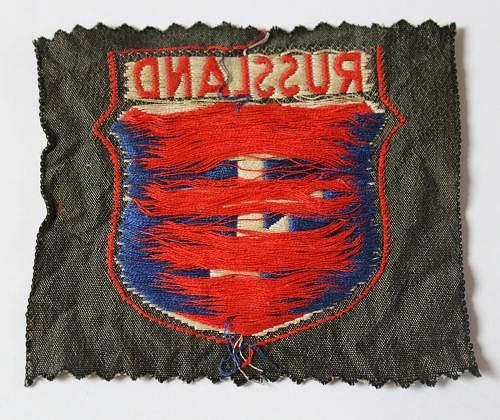 Russland Volunteer Shield real or fake please ???