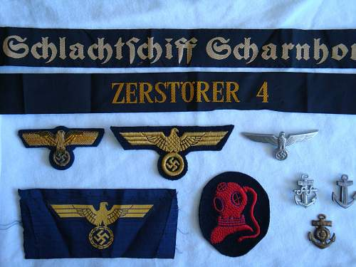 2 Kriegsmarine Cap Talleys: Info Needed