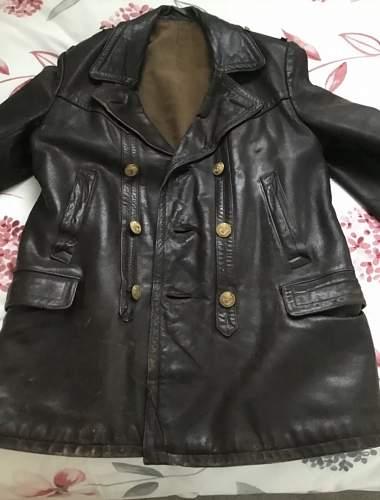 Kriegsmarine leather Jacket?!