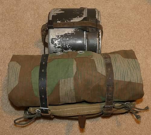 German soldier winter setup