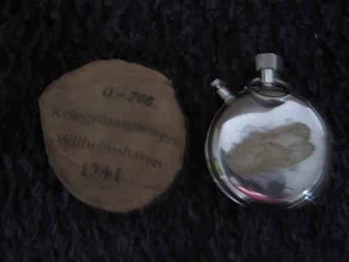 U-766 Nero Lemania pocket watch