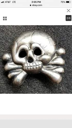 Panzer Shoulder Board with Panzer skull, real or fake?