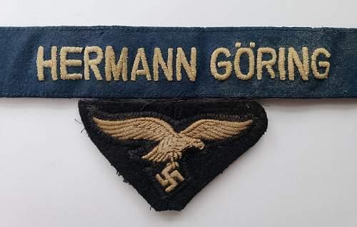 original Herman Goering Panzer Division Cap Eagle?