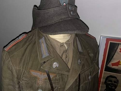 My first German uniform! First pattern M40 tropical DAK panzer tunic
