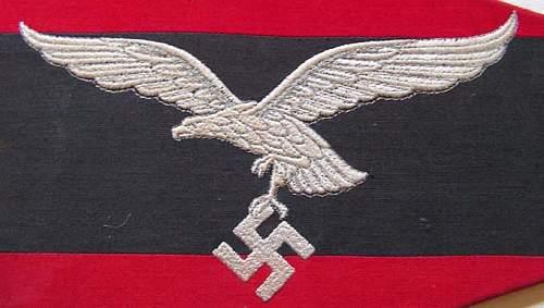 Luftwaffe Flak commanders fender pennant