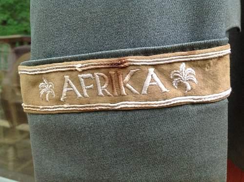 Leutnant Panzer Tunic Afrika Korps/ Grossdeutchland Division