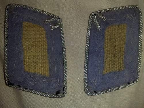 Luftwaffe Oberleutnant collar tabs