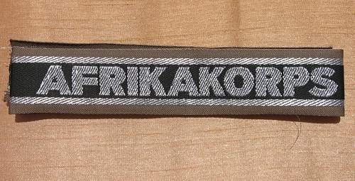 AFRIKAKORPS Cuff Title Opinions