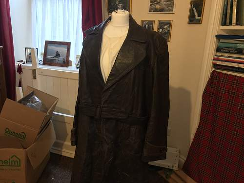 A late birthday present from my family in Poland (German Horseshoe Leather Greatcoat)