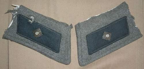 Volkssturm gruppenfuhrer collar patches