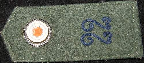 Need help to identify shoulder board