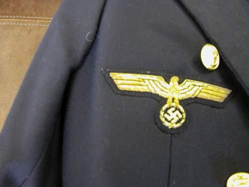 Kriegmarine Messe  Jacke Kapitan