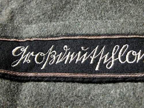 Heer Officers Mantel Panzer Lt. Col. with cuff title