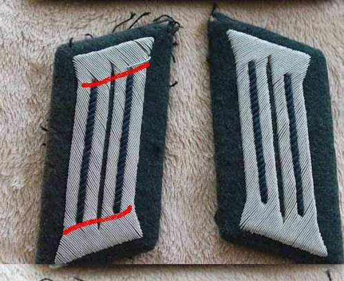 opinions on a nice pair of wehrmacht shoulder boards and collar tabs
