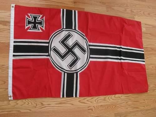 Kriegsmarine flag real or fake