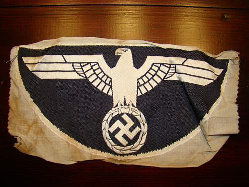 """WWII German Eagle PT vest """"PANZER"""" Black Eagle Insignia"""