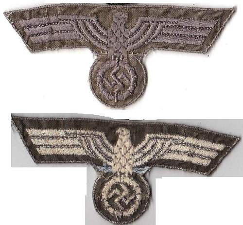 Click image for larger version.  Name:Late war Heer tunic eagle, machine embroidered - Copy.jpg Views:50 Size:179.1 KB ID:186221