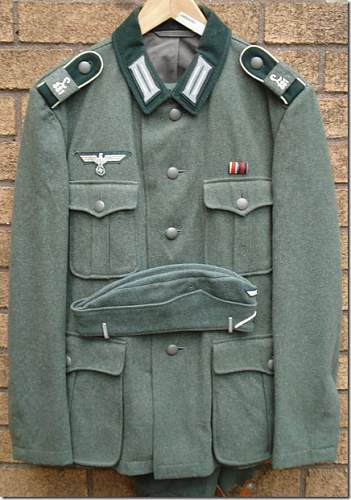 Four uniforms for sale