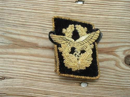 Luftwaffe generals collar tabs