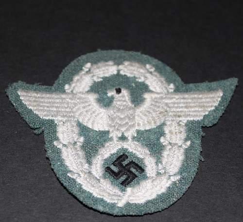 Police Shoulder eagle...