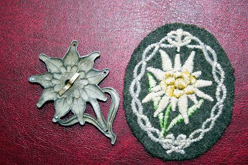 Edelweiss cap and cloth insignia - Good or bad?