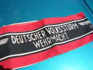 deutscher volkssturm wehrmacht armband authenticity