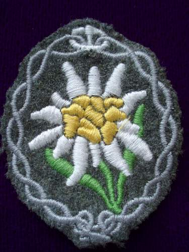 Edelweiss Sleeve Insignia Real or Fake?