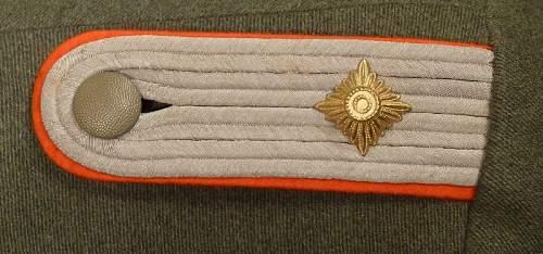 Army Artillery Oberleutnant Service Tunic