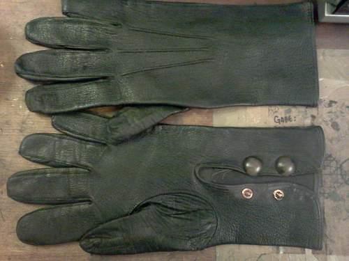 German officer's leather gloves