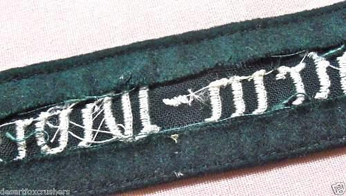 Luftwaffe Fallschirmdivision cuff title