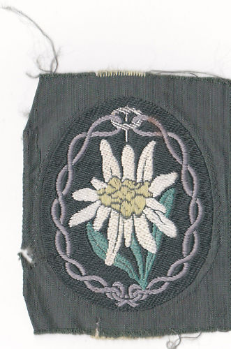 Need help with Gebirgjager cloth patch...