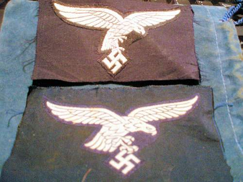 Early Droop Tail Bevo Luftwaffe Breast Eagles