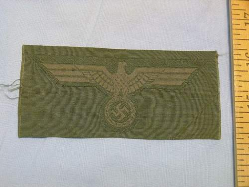 German Wehrmacht bevo cap eagle patches...Original or Repro?