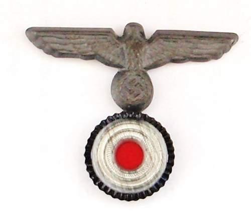 Badge on cap?
