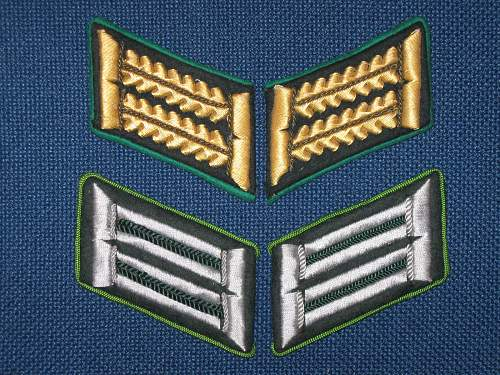 color on the outside of collar tabs