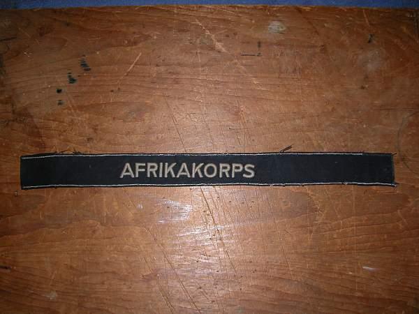 Unofficial afrikakorps cuff title