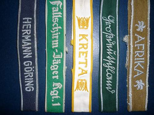 Group of various cuff titles