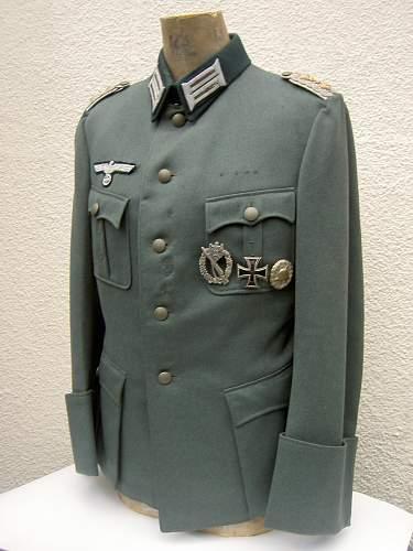 German heer m 36 tailor made tunic, oberst, 2nd infantry regt.knights cross winner?