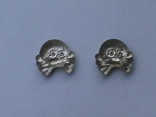 Panzer EM Collar tab skulls- Original or not